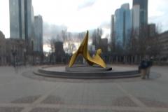 "trans-dimensional object ""nimbus - LL"" Bronze polished PHOTOMONTAGE"