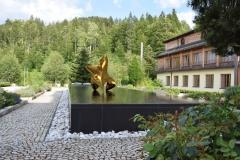 "trans-dimensional object ""poisis - L"" Bronze polished PHOTOMONTAGE"