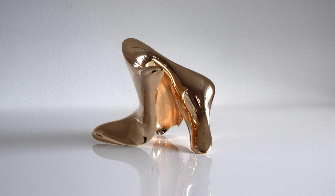 """trans-dimensional object """"transition"""" Bronze polished"""