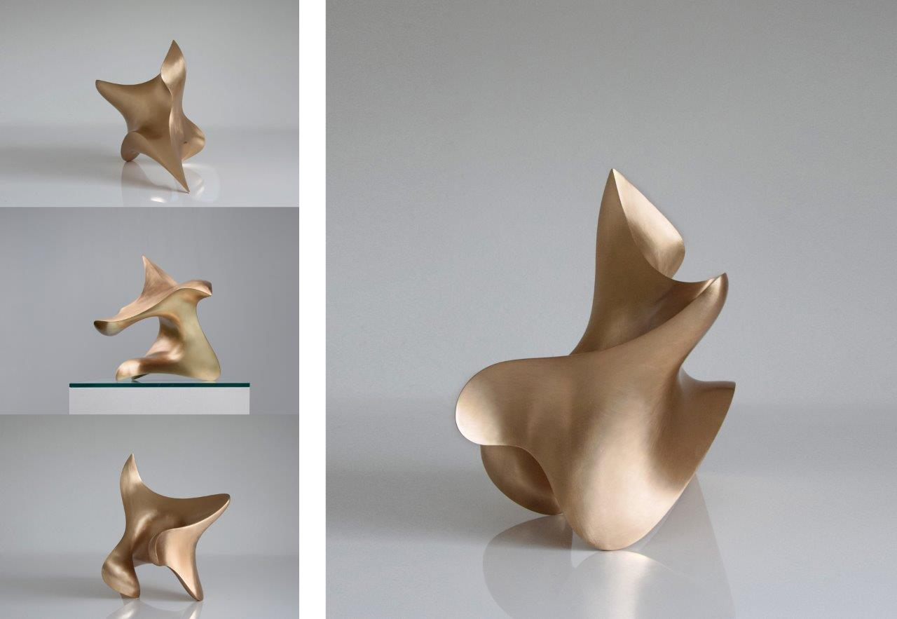 """trans-dimensional object """"poisis"""" Bronze sanded by hand"""