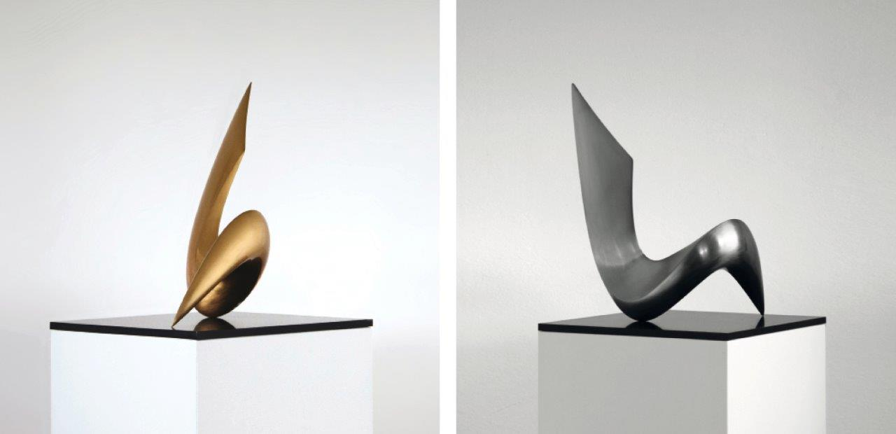 """sinus"" Bronze sanded by hand"