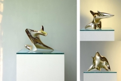 "trans-dimensional object ""nimbus"" Bronze polished"