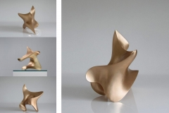 "trans-dimensional object ""poisis"" Bronze sanded by hand"