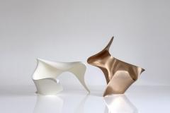 """trans-dimensional object """"wavespace"""" Lacquer technique / Bronze"""