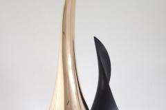 """""""peak"""" PAIR Bronze polished / Lacquer technique"""